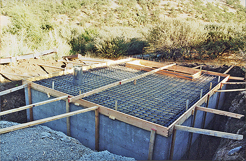 roof grid for root cellar