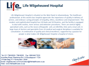 Wilgeheuwel hospital visiting hours