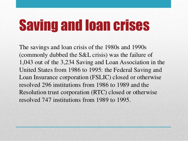 savings and loans crisis