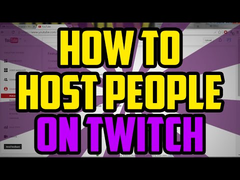 how to stop hosting on twitch