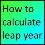 How to calculate leap year