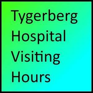 Tygerberg Hospital Visiting Hours