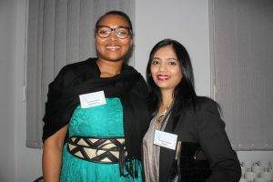 Dr Nadine Behari and Thembela Moyoand