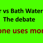 Shower vs Bath Water Usage